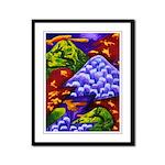 Dragonland Dragons Mountains Framed Panel Print