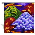 Dragonland Dragons Mountains Shower Curtain