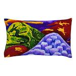 Dragonland - Green Dragons Pillow Case