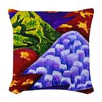 Dragonland, Green Dargons Woven Throw Pillow