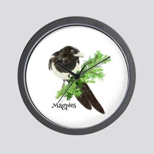 Curious Watercolor Magpie Bird Nature Art Wall Clo
