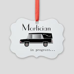 Mortician in progress Picture Ornament