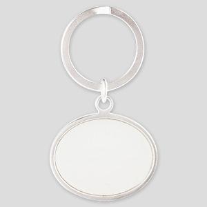 Funny Escrima designs Oval Keychain