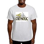 Grateful to be Catholic (Black) Ash Grey T-Shirt