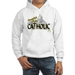 Grateful to be Catholic (Black) Hooded Sweatshirt