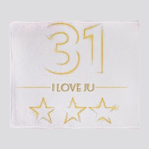 I love Ju Throw Blanket