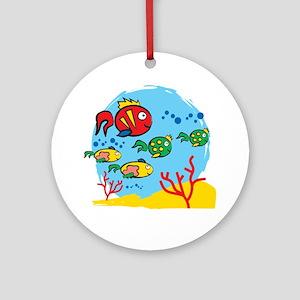 FISH AQUARIUM Round Ornament