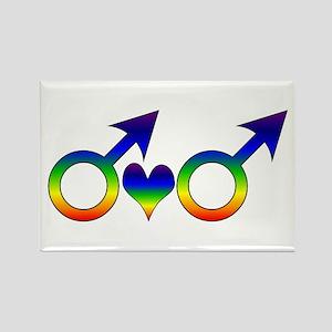 Gay Men Partners Rectangle Magnet