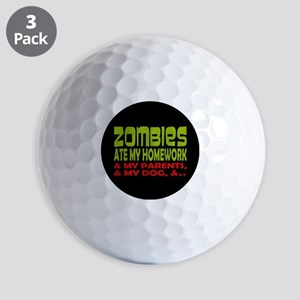 Zombies Ate Homework Golf Balls