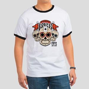 Cheststache Poker Face T-Shirt Ringer T