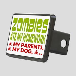 Zombie Ate Homework Rectangular Hitch Cover