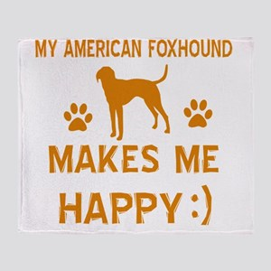 American Foxhound dog breed designs Throw Blanket