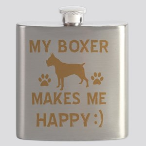 Boxer dog breed designs Flask