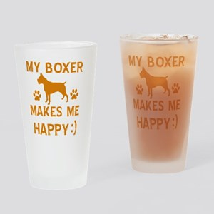 Boxer dog breed designs Drinking Glass