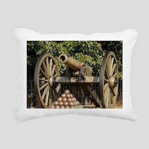 Civil War cannon Rectangular Canvas Pillow