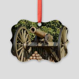 Civil War cannon Picture Ornament