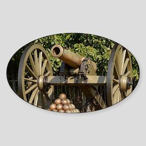Civil War cannon Sticker (Oval)