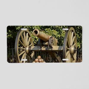 Civil War cannon Aluminum License Plate