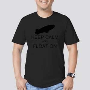 Keep Calm and Float On Men's Fitted T-Shirt (dark)
