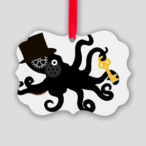 Steampunk Octopus Picture Ornament