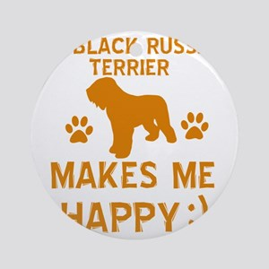 Black Russian Terrier dog designs Round Ornament