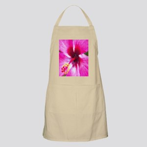 Painted Me Pink Hibiscus Flower Apron