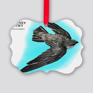 Chimney Swift Picture Ornament