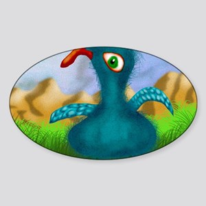 Blue Bird Of Happiness Calendar Sticker (Oval)