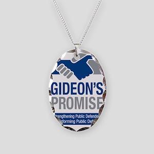 Branded messenger bag Necklace Oval Charm