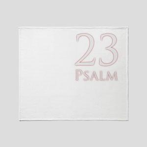 23 psalm dark colors Throw Blanket