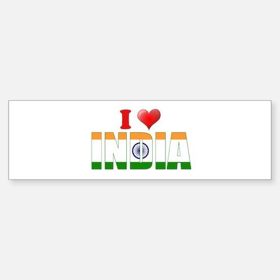I love India Bumper Bumper Bumper Sticker