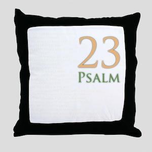 psalms 23 dark colors Throw Pillow