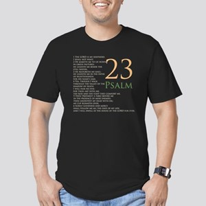 psalms 23 dark colors Men's Fitted T-Shirt (dark)