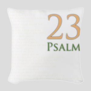 psalms 23 dark colors Woven Throw Pillow
