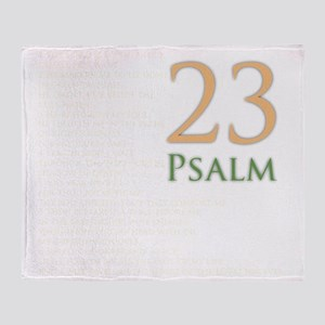 psalms 23 dark colors Throw Blanket