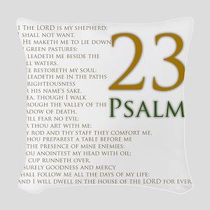twenty third psalm Woven Throw Pillow