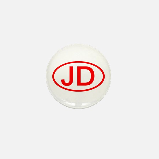 JD Oval (Red) Mini Button