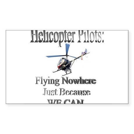 Helicopter Pilots Rectangle Sticker