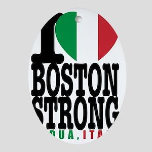 I Heart Boston Strong Padua Italy ts Oval Ornament