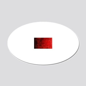 creepy red scratches  20x12 Oval Wall Decal