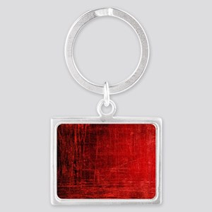 creepy red scratches  Landscape Keychain