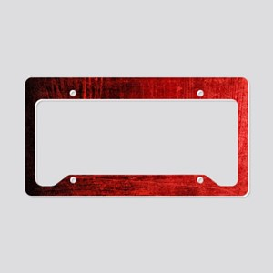 creepy red scratches  License Plate Holder