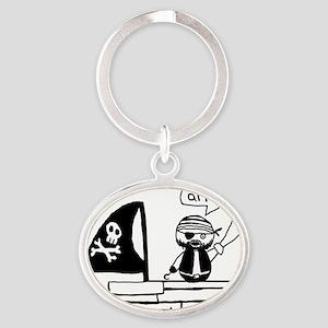 Pirate Oval Keychain