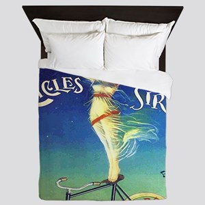 Vintage French Sirius Bicycle Queen Duvet