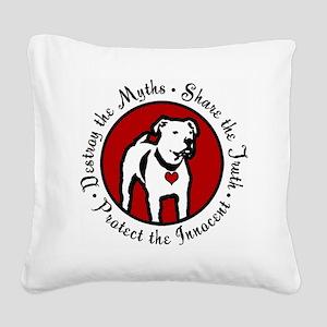 Response-a-Bull Rescue Logo Square Canvas Pillow