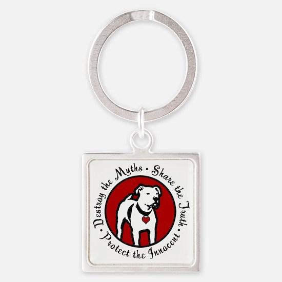 Response-a-Bull Rescue Logo Square Keychain