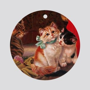 tvk_napkins_825_H_F Round Ornament