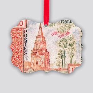 1959 Laos That Ing Hang Stupa Pos Picture Ornament