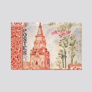 1959 Laos That Ing Hang Stupa Pos Rectangle Magnet