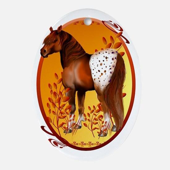 Big Copper Appaloosa Oval Trans Oval Ornament